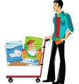 Customer in a supermarket vector image vector image