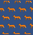 cute fox seamless simple pattern vector image