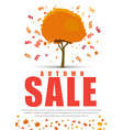 Design a poster for sale with autumnal tree with vector image