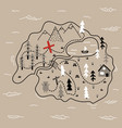 doodle island map vector image