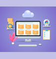 electronic file organization system concept vector image vector image