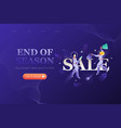 end season web page design template vector image