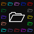 Folder icon sign Lots of colorful symbols for your vector image