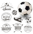football calligraphy collection vector image vector image
