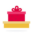 gift boxes flat material design isolated object vector image