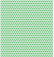 green heart shape pattern vector image vector image