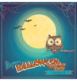 Greeting Card Halloween with owl on background of vector image vector image