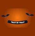 halloween background picture with flying bats vector image vector image