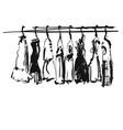 hand drawn wardrobe sketch baby clothes on vector image vector image