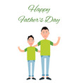 happy father s day color card vector image