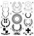 Heraldry design elements vector image vector image