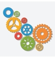 Industrial wheel with colors design vector image vector image