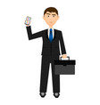 isolarted businessman vector image