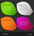 leaf paper color vector image vector image