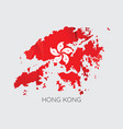 map of hong kong vector image vector image