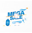 mega sale 50 banner template design with light vector image vector image