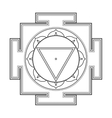 monocrome outline Tara yantra vector image vector image