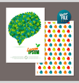 Nature rainbow leaves concept card leaf abstract vector image vector image