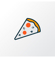 pizza slice icon colored line symbol premium vector image