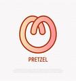 pretzel thin line icon modern vector image vector image