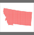 red dot map of montana vector image