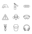 Repair tools icons set outline style vector image vector image