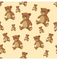 Seamless background teddy bear toy vector image