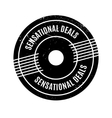 Sensational Deals rubber stamp vector image vector image