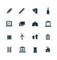 set architecture icons vector image vector image