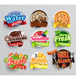 set stickers food vector image vector image