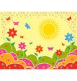 Sunny summer landscape as wallpaper vector image vector image