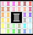 thread sign felt-pen 33 vector image vector image
