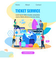 ticket booking service flat web banner vector image vector image