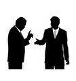 two businessmen arguing vector image