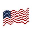 usa flag american flag white stars on blue vector image vector image