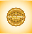 volumetric badge flat design vector image