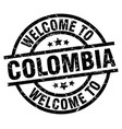 welcome to colombia black stamp vector image vector image