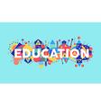 Creative Education concept font vector image