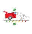 Car diagnostics icon cartoon style vector image