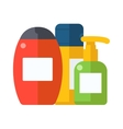 Cosmetic packaging plastic shampoo or shower gel vector image