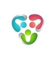 teamwork logo global modern people connection vector image