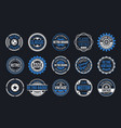 15 retro vintage badges design collection vector image