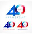 40 anniversary red blue logo