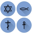 a small set of religious symbols vector image