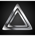 Abstract metallic triangle logo vector image vector image