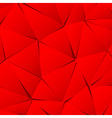 Abstract red paper triangle background vector image vector image