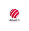 abstract red sun stripped logo template vector image