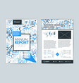 annual report cover design template flyer design vector image vector image