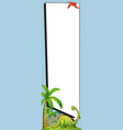 banner template with brachiosaurus and pterosaur vector image vector image