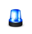 Blue flashing siren vector image